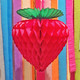 Honeycomb Paper Strawberry for Tropical or Fruity Themed Birthday Parties