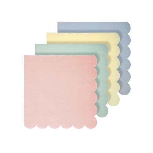 Assorted Pastel Party Napkins for Unicorn Themed Birthdays and Baby Showers