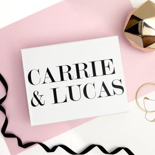 Personalised Bride and Groom Name Wedding Gift Box Keepsake