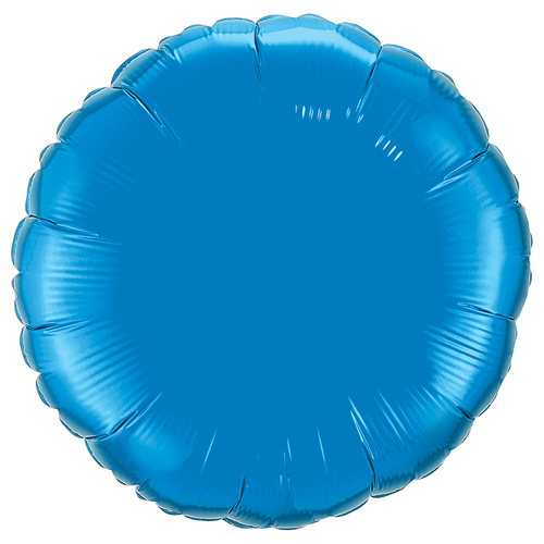 Small Dark Blue Round Foil Balloon Party Decoration for Birthdays and Weddings