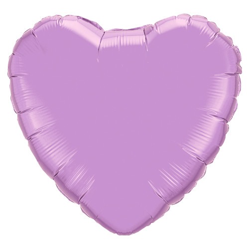 Small Lilac Heart Foil Balloon Party Decoration for Birthdays, Weddings, Hen Parties and Baby Showers