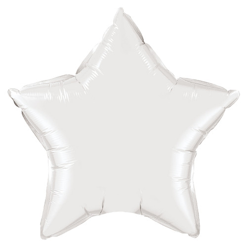 Small White Star Foil Balloon Party Decoration for Birthdays, Weddings, Hen Parties and Baby Showers