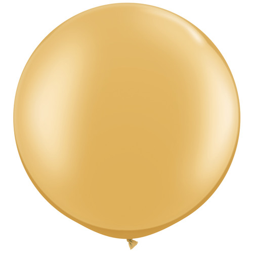 Gold Giant Round Balloon Party Decoration for Art Decor Birthdays, Hen Parties, Weddings or Baby Showers