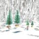 Small decorative bottle brush sisal Christmas trees