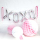 XOXO love letter balloons for hen parties, weddings and baby showers