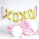 Gold XOXO love letter balloons for hen parties, weddings and baby showers