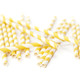 Yellow Stripe Paper Party Straws for birthday parties, weddings and summer celebrations