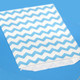 Blue Chevron Print Paper Party Bags