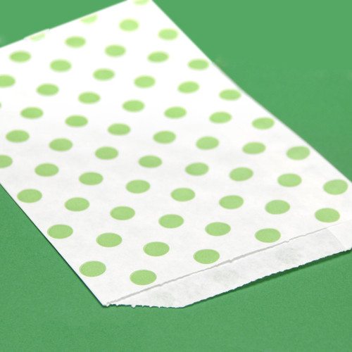 Green Polka Dot Paper Party Bags