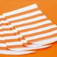 Orange Stripe Paper Party Bags
