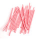 Red Chevron Print Paper Party Straws