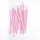 Modern Pink Chevron Print Paper Party Straws