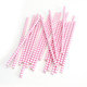 Stylish Pink Chevron Print Paper Party Straws