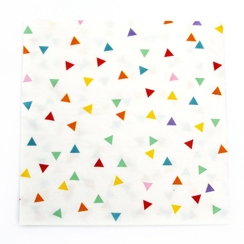 Rainbow Triangle Paper Party Napkins