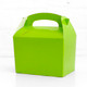 Light green food treat box for birthday party snacks, picnics, goodie bags, gifts and street food.