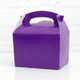 Purple food treat box for birthday party snacks, picnics, goodie bags, gifts and street food.