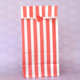 Tall Red Striped Party Bags for birthday party favours, gifts, weddings, sweets tables and dessert buffets