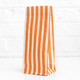 Tall Orange Striped Party Bags for birthday party favours, gifts, weddings, sweets tables and dessert buffets