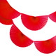 Red Paper Fan Garland Bunting Decoration for Birthday Parties, Weddings, Baby Showers and Hen Dos
