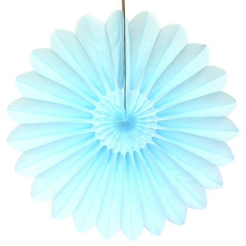 Light Blue Deluxe Tissue Paper Fan Decoration for Birthday Parties, Weddings, Baby Showers and Hen Dos