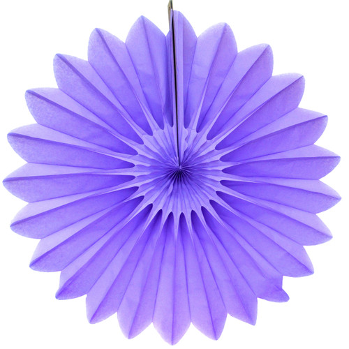 Lavender Deluxe Tissue Paper Fan Decoration for Birthday Parties, Weddings, Baby Showers and Hen Dos
