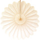 Ivory Deluxe Tissue Paper Fan Decoration for Birthday Parties, Weddings, Baby Showers and Hen Dos
