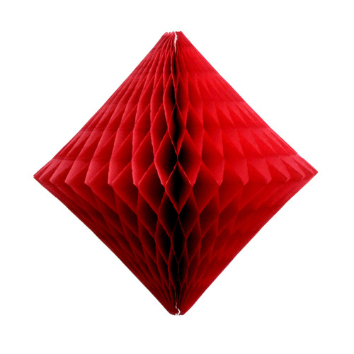 Red Paper Diamond Geometric Decoration for Birthday Parties, Baby Showers, Weddings and Dessert Tables