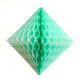 Mint Paper Diamond Geometric Decoration for Birthday Parties, Baby Showers, Weddings and Dessert Tables