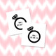 Personalised Hen Do Wedding Ring Temporary Tattoos