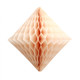 Peach tissue paper diamond decoration for kids birthday parties, weddings, dessert table displays and hen dos.