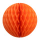 Orange Tissue Paper Honeycomb Ball Pom Pom Decoration