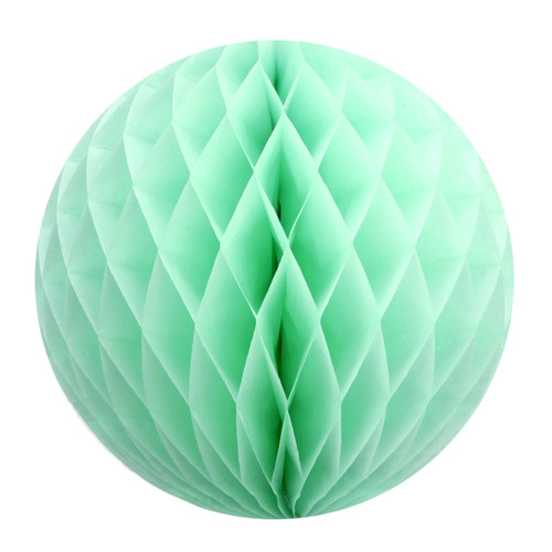 Mint Tissue Paper Honeycomb Ball Pom Pom Decoration for Weddings and Baby Showers