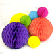 Rainbow Tissue Paper Honeycomb Ball Pom Pom Decorations