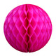 Dark Pink Tissue Paper Honeycomb Ball Pom Pom Decoration for Parties