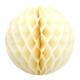 Ivory Tissue Paper Honeycomb Ball Pom Pom Decoration