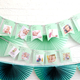 Custom first birthday memory garland decoration