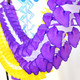 Purple Tissue Paper Garland Decoration for Birthday Parties, Weddings, Baby Showers and Hen Parties