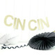 CIN CIN Gold and Silver Glitter Garland Decoration