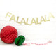FA LA LA LA LA Christmas Glitter Gold and Silver Garland Decoration