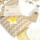 Kraft Gift Wrap Ribbon, Tags and Stickers Kit