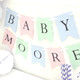 Personalised Baby Shower Bunting Decoration for Baby Showers and Christenings in Custom Colours