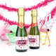 Personalised Tropical Hen Party Bottle Favour Labels
