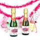 Personalised Flamingo Hen Party Bottle Favour Labels