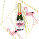 Personalised Pineapple Hen Party Bottle Labels
