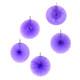 Purple Paper Fan Set Party Decorations