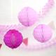 Pink Paper Honeycomb Pom Pom Decorations