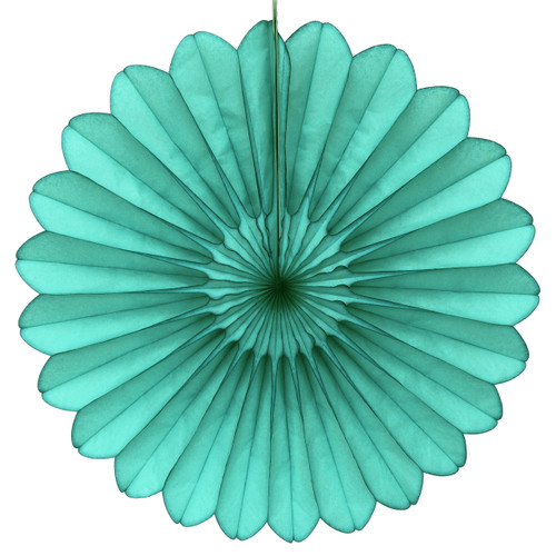 Teal Deluxe Tissue Paper Fan Decoration for Birthday Parties, Weddings, Baby Showers and Hen Dos