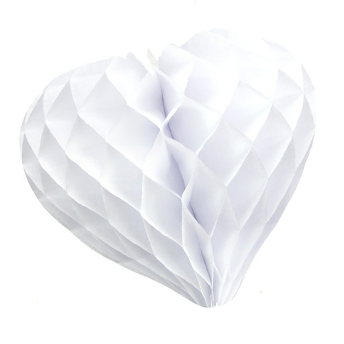 Beautiful white paper heart decoration for weddings and hen parties