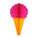 Raspberry Ice Cream Cone Paper Honeycomb Decoration