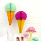 Mint and Raspberry Ice Cream Cone Paper Honeycomb Party Decoration